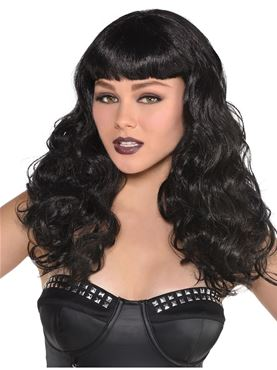 Adult Black Waves Wig