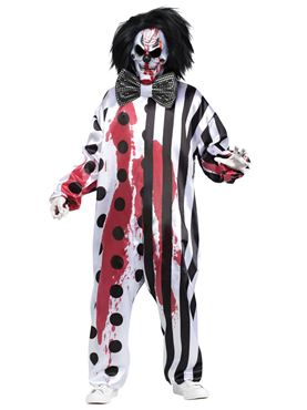 Adult Bleeding Killer Clown Costume