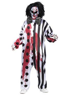 Adult Bleeding Killer Clown Costume