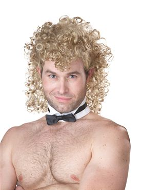 Adult Blonde Stripper Chippendale Wig