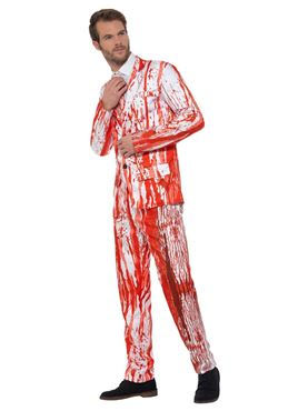 Adult Blood Drip Stand Out Suit - Back View