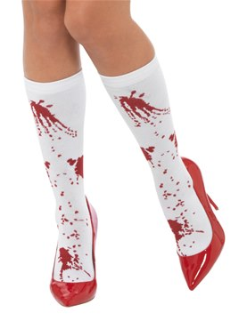 Adult Blood Splatter Socks
