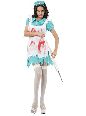 Adult Blood Splattered Nurse Costume Thumbnail