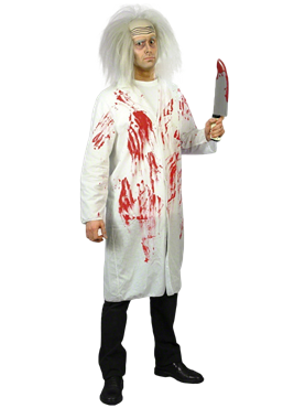Adult Bloody Doctors Coat Couples Costume