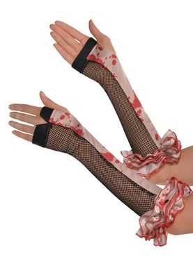 Adult Bloody Fingerless Gloves