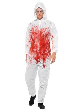 Adult Bloody Forensic Overall Costume - Side View