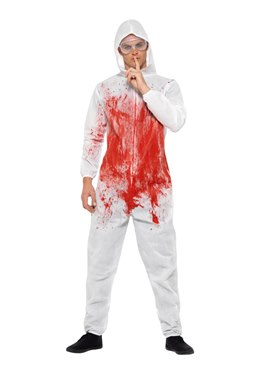 Adult Bloody Forensic Overall Costume