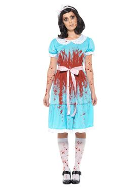 Adult Bloody Murderous Twin Costume - Side View