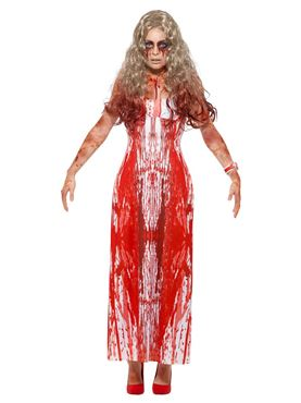 Adult Bloody Prom Queen Costume - Side View