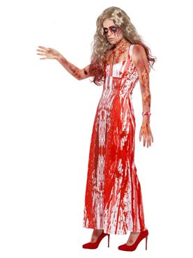 Adult Bloody Prom Queen Costume - Back View