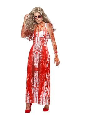 Adult Bloody Prom Queen Costume Couples Costume
