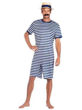 Adult Blue 1920s Swimsuit Costume