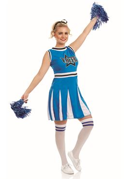 Adult Blue Cheerleader Costume