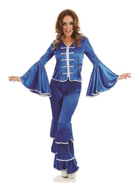Adult Blue Dancing Queen Costume