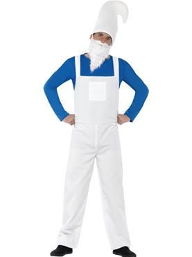 Adult Blue Garden Gnome Costume Thumbnail