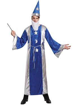 Adult Blue Magician Costume