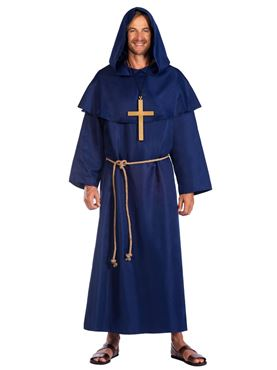 Adult Blue Monk's Cloak Costume Couples Costume