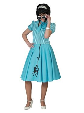 Adult Blue Poodle Dress Costume
