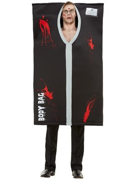 Adult Bodybag Costume - Back View