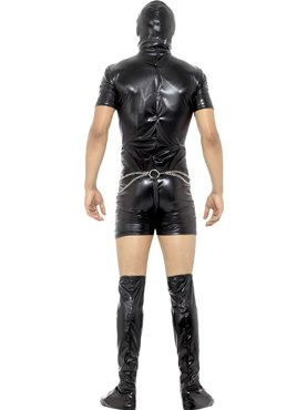 Adult Bondage Gimp Costume - Side View