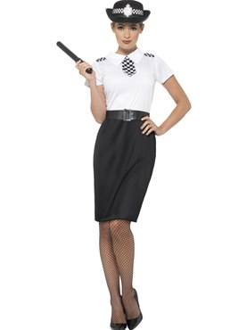 Adult British Police Lady Costume