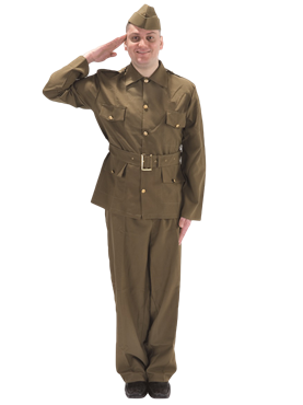 Adult British WW2 Soldier Costume Couples Costume