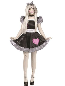 Adult Broken Doll Costume