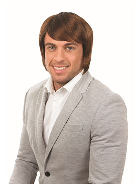 Adult Brown Boy Band Wig