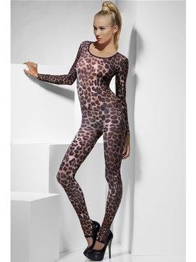Adult Brown Cheetah Print Bodysuit