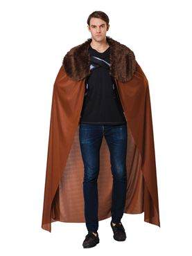 Adult Brown Cape with Fur Collar