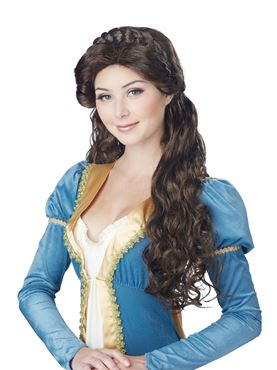 Adult Brunette Medieval Beauty Wig