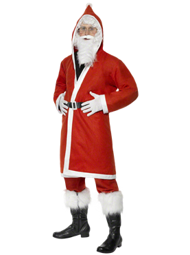 Adult Budget Father Christmas Costume Couples Costume