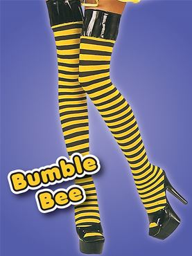 Adult Bumblebee Thigh High Stockings