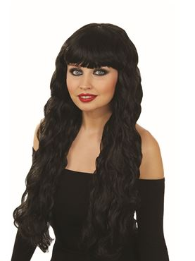 Adult Black Long Wavy Wig