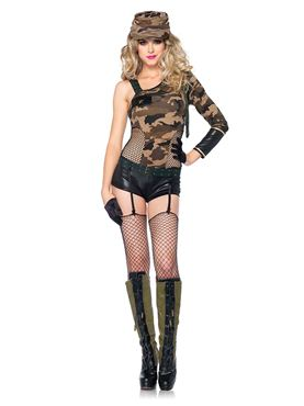 Adult Camo Doll Costume Thumbnail