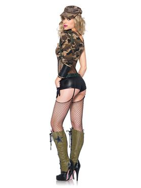 Adult Camo Doll Costume - Back View
