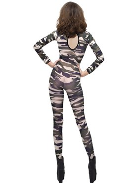 Adult Camouflage Bodysuit - Side View