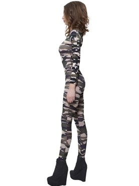 Adult Camouflage Bodysuit - Back View