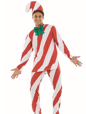 Adult Candy Cane Man - Back View