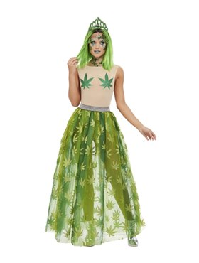 Adult Cannabis Queen Costume Couples Costume