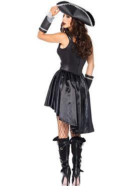Adult Captain Black Heart Costume - Back View
