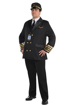 Adult Plus Size Captain Wingman Costume