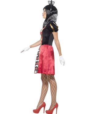Adult Carded Queen Costume - Back View