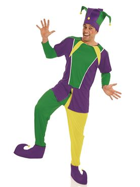 Adult Carnival Jester Costume Couples Costume