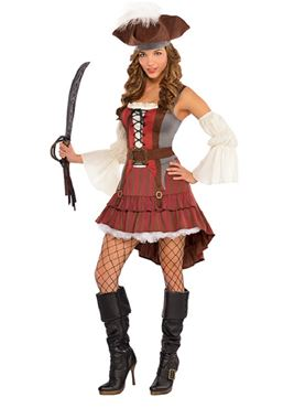 Adult Castaway Pirate Costume Thumbnail