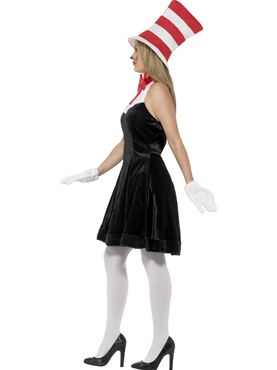Adult Cat in the Hat Costume - Back View