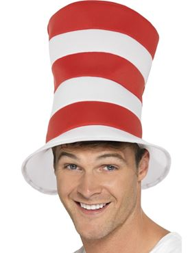 Adult Cat in the Hat Top Hat - Back View