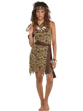 Adult Cavewoman Costume Couples Costume