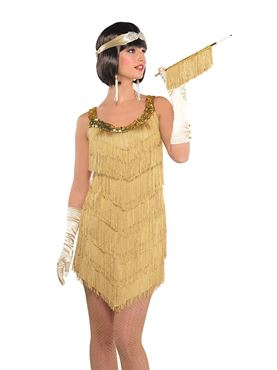 Adult Champagne Flapper Costume