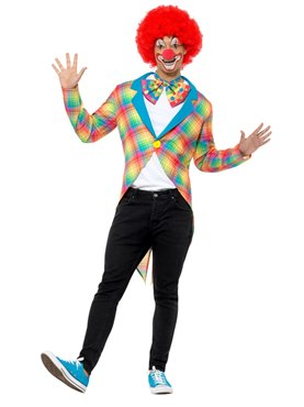 Adult Checked Clown Tailcoat